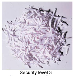 Shredder  Security levels and shredder types - Vostok