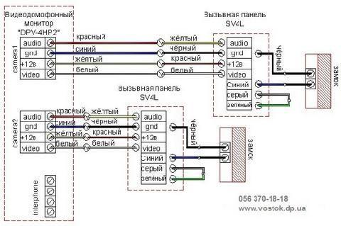 Схема подключения видеодомофона commax cdv 71am 399