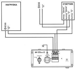 схема подключении однофазного счетчика.