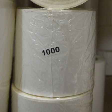 Polypropylene white label 58 * 40 mm/1000