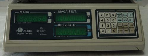 Весы счетные Acom AC-100-10