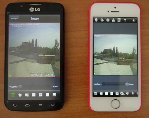 Видеонаблюдение через ваш Android, iPhone